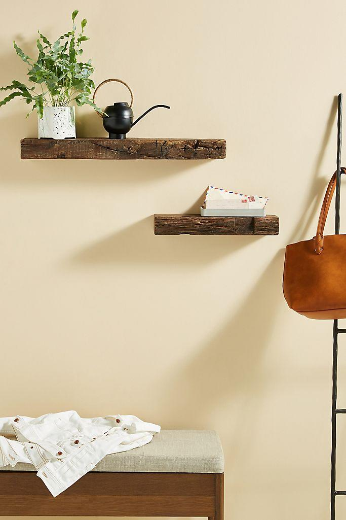 Reclaimed wood shelves are a textural treat. (Photo: Anthropologie)