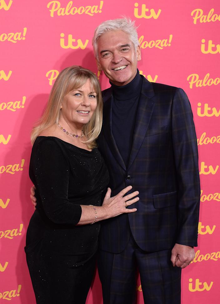 Stephanie Lowe and Phillip Schofield attend the ITV Palooza 2019 at the Royal Festival Hall on November 12, 2019 in London, England. (Photo by Jeff Spicer/Getty Images)