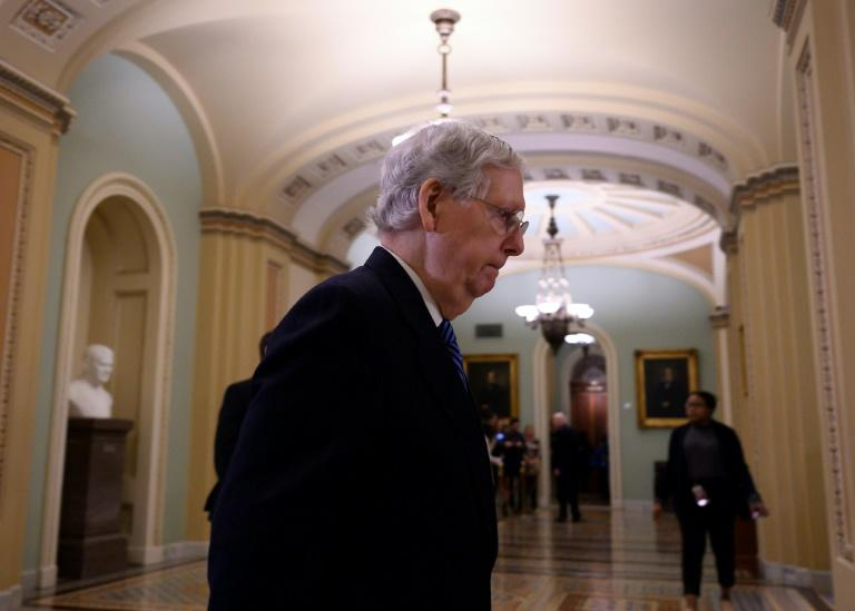 US Senate Majority leader Mitch McConnell is one of 53 Republicans in the Senate, and they have shown little inclination to break ranks with President Donald Trump (AFP Photo/ANDREW CABALLERO-REYNOLDS)