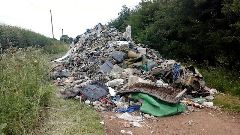 Flytipping scumbags (SWNS)