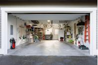 """<p>Remember: Your garage is actually made for storing cars, not stuff. """"Go vertical with your storage by making the most out of the wall space, even above the garage doors,"""" says Rosenthal. Install pulley-style systems for bulky items that you don't use everyday like ladders and bikes.<br><br><a class=""""link rapid-noclick-resp"""" href=""""https://www.amazon.com/RAD-Cycle-Products-Mount-Ladder/dp/B003VOX1XU/?tag=syn-yahoo-20&ascsubtag=%5Bartid%7C10063.g.36459111%5Bsrc%7Cyahoo-us"""" rel=""""nofollow noopener"""" target=""""_blank"""" data-ylk=""""slk:SHOP PULLEY SYSTEMS"""">SHOP PULLEY SYSTEMS</a><br></p>"""