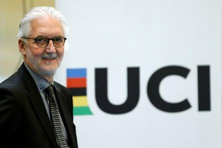 Britain's Brian Cookson, President of International Cycling Union (UCI) attends a media event on motor detection in Aigle, Switzerland in this file photo dated May 3, 2016. REUTERS/Denis Balibouse