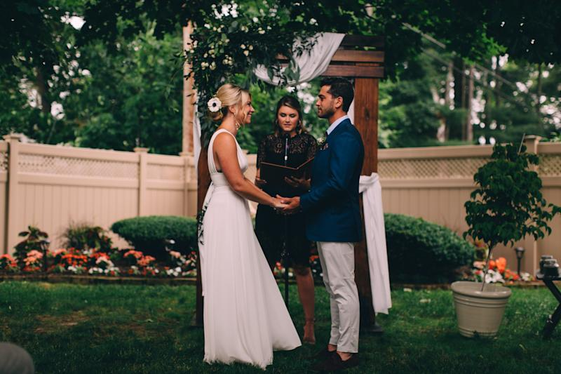 Romer and Middleton might spark a trend with lower-key wedding celebrations and incorporating more personal elements to the event. (Photo courtesy of Benjamin Romer and Melanie Middleton, photo credit to Turnquist Collective.)