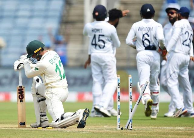 South African cricket is on its knees after a second heavy defeat in India, prompiting authorities to call for patience (AFP Photo/PUNIT PARANJPE)