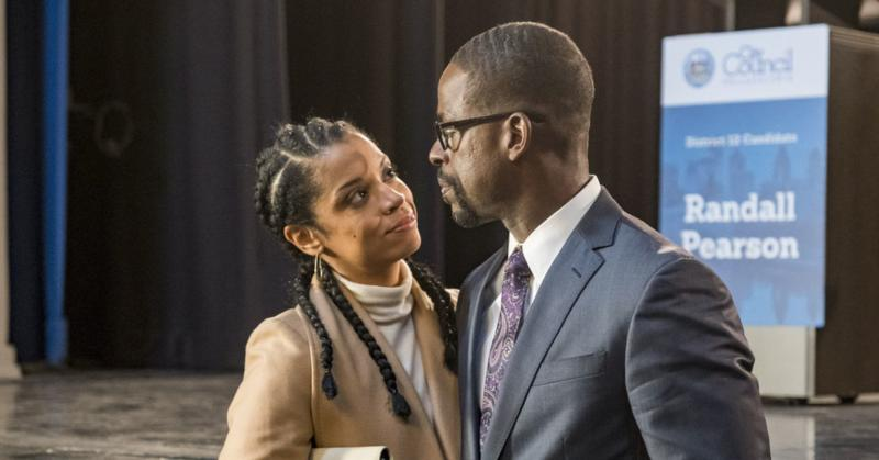 """Susan Kelechi Watson as Beth and Sterling K. Brown as Randall on NBC's """"This Is Us"""""""