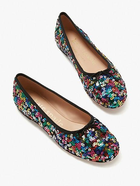 <p>Sparkle in these <span>Kate Spade New York Honey Flats</span> ($128).</p>