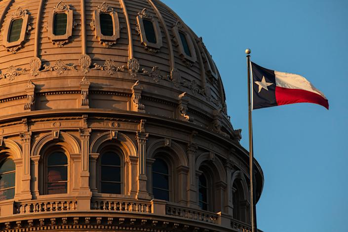 The Texas State Capitol is seen on the first day of the 87th Legislature's third special session on Sept. 20 in Austin, Texas.