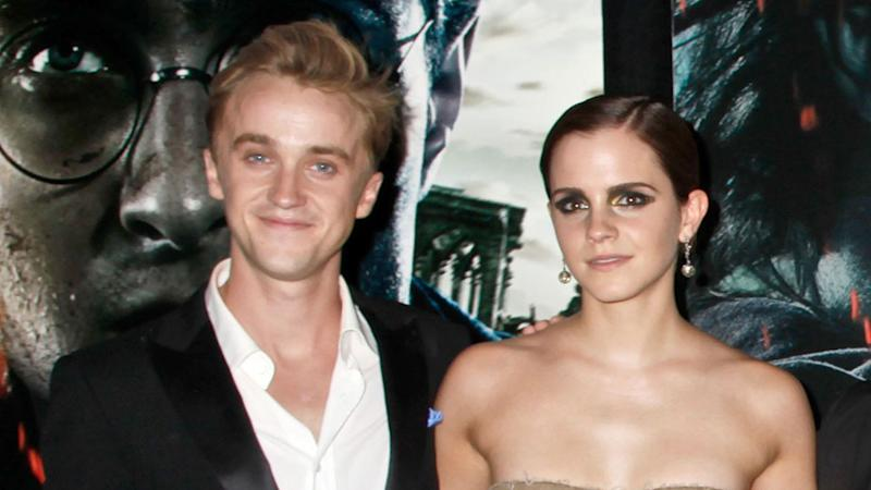 """Rupert Grint Just Admitted There Were """"Sparks"""" Between Emma Watson & Tom Felton—AKA Dramione Is Real"""