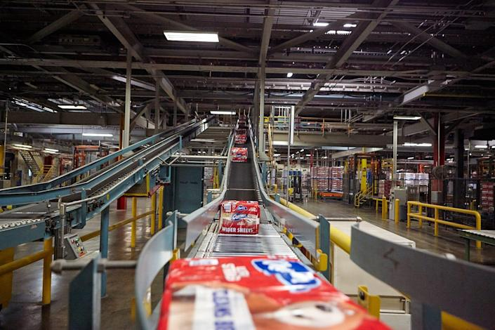 Charmin toilet paper is produced at Procter & Gamble's Mehoopany, Pennsylvania plant, the company's largest in the United States.