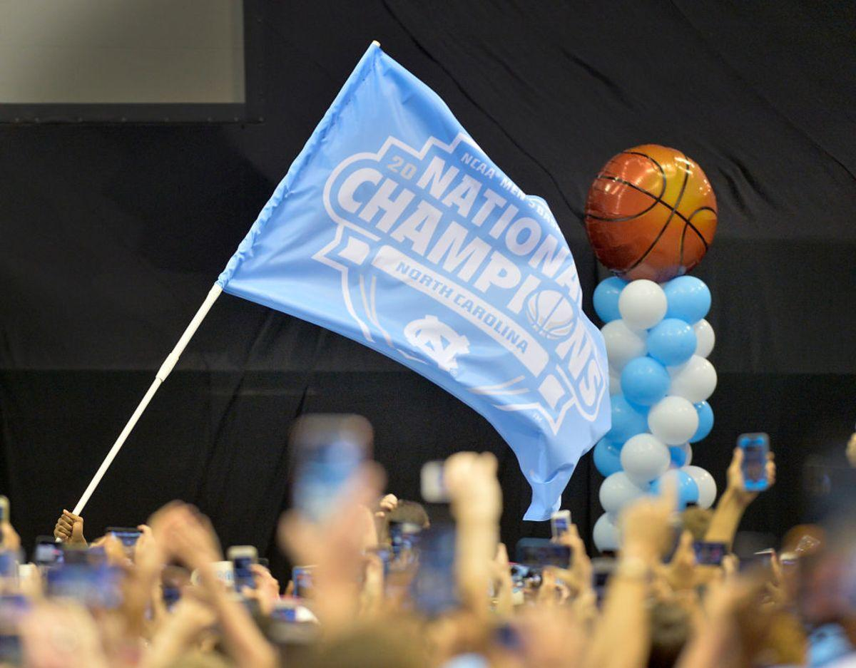 CHAPEL HILL, NC- APRIL 4: North Carolina Tar Heels fans react to the team arriving for their welcome-home reception for the NCAA men's basketball team on April 4, 2017 in Chapel Hill, North Carolina. The Tar Heels defeated the Gonzaga Bulldogs 71-65 yesterday to win the national championship. (Photo by Sara D. Davis/Getty Images)