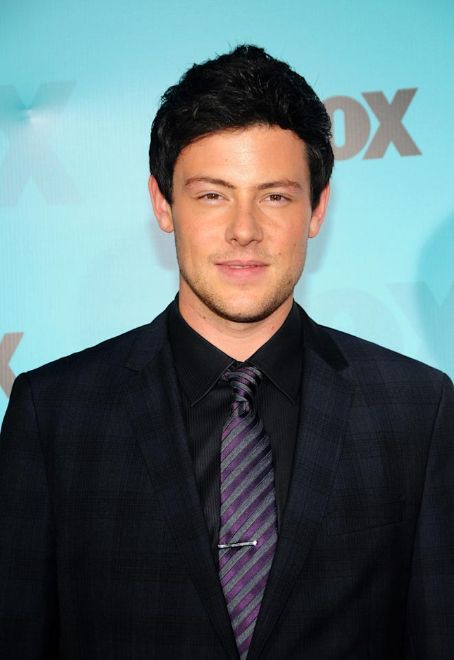 """Cory Monteith (""""Glee"""") attends the Fox 2012 Upfronts Post-Show Party on May 14, 2012 in New York City."""