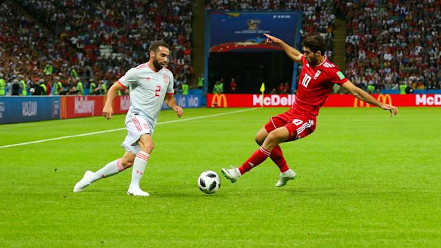 Even though a fortunate Diego Costa strike earned Spain a 1-0 win over Iran, right-back Dani Carvajal hit out at their tactics.