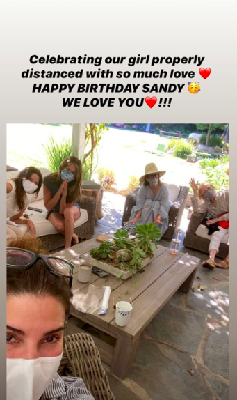 Sandra Bullock Has Socially Distant Birthday Party With Jennifer Aniston (Credit Jennifer Aniston/Instagram stories)