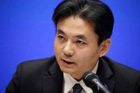 Yang Guang of the Hong Kong and Macau Affairs Office of the State Council attends a news conference in Hong Kong, in Beijing