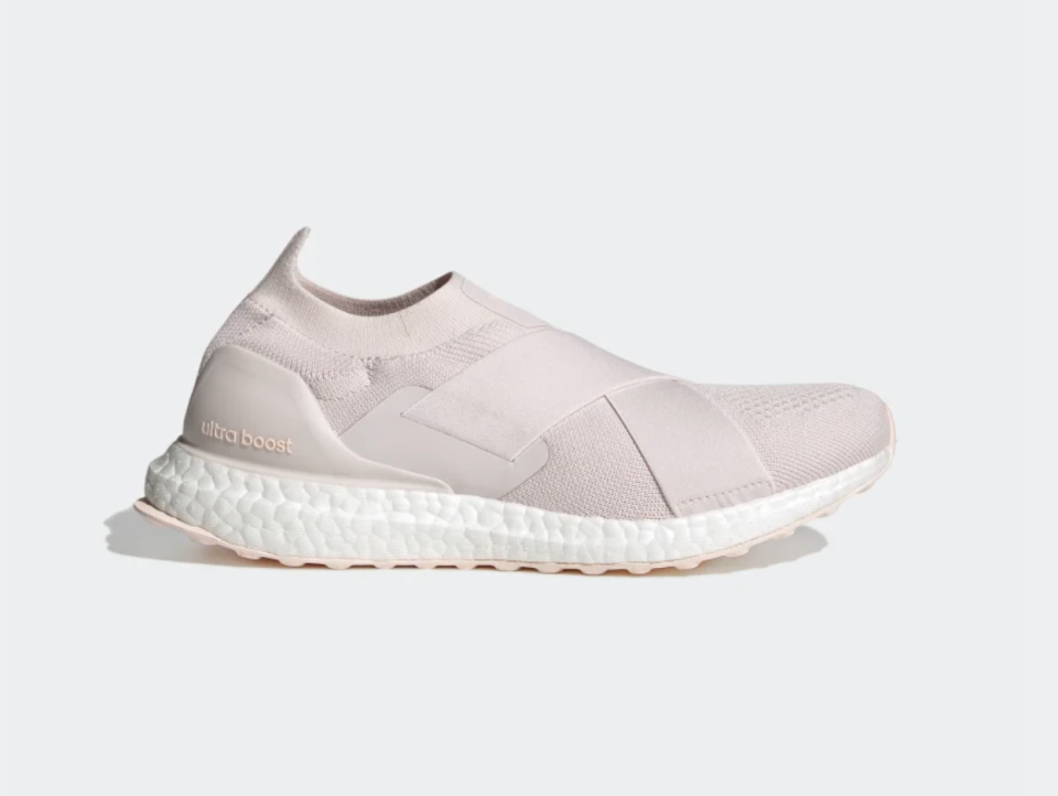 Ultraboost Slip-On DNA Shoes in Orchid Tint (Photo via Adidas)