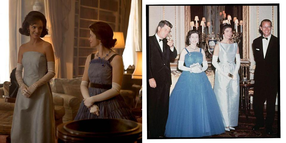 <p>In 1961, the US president John F Kennedy and his wife Jackie made a state visit to the UK, and dined with the Queen and Duke of Edinburgh at a banquet.</p>