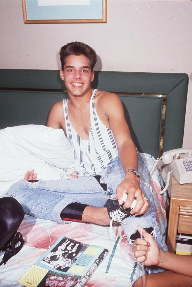 In his hotel room during a 1988 tour while being part of the musical group sensation Menudo.