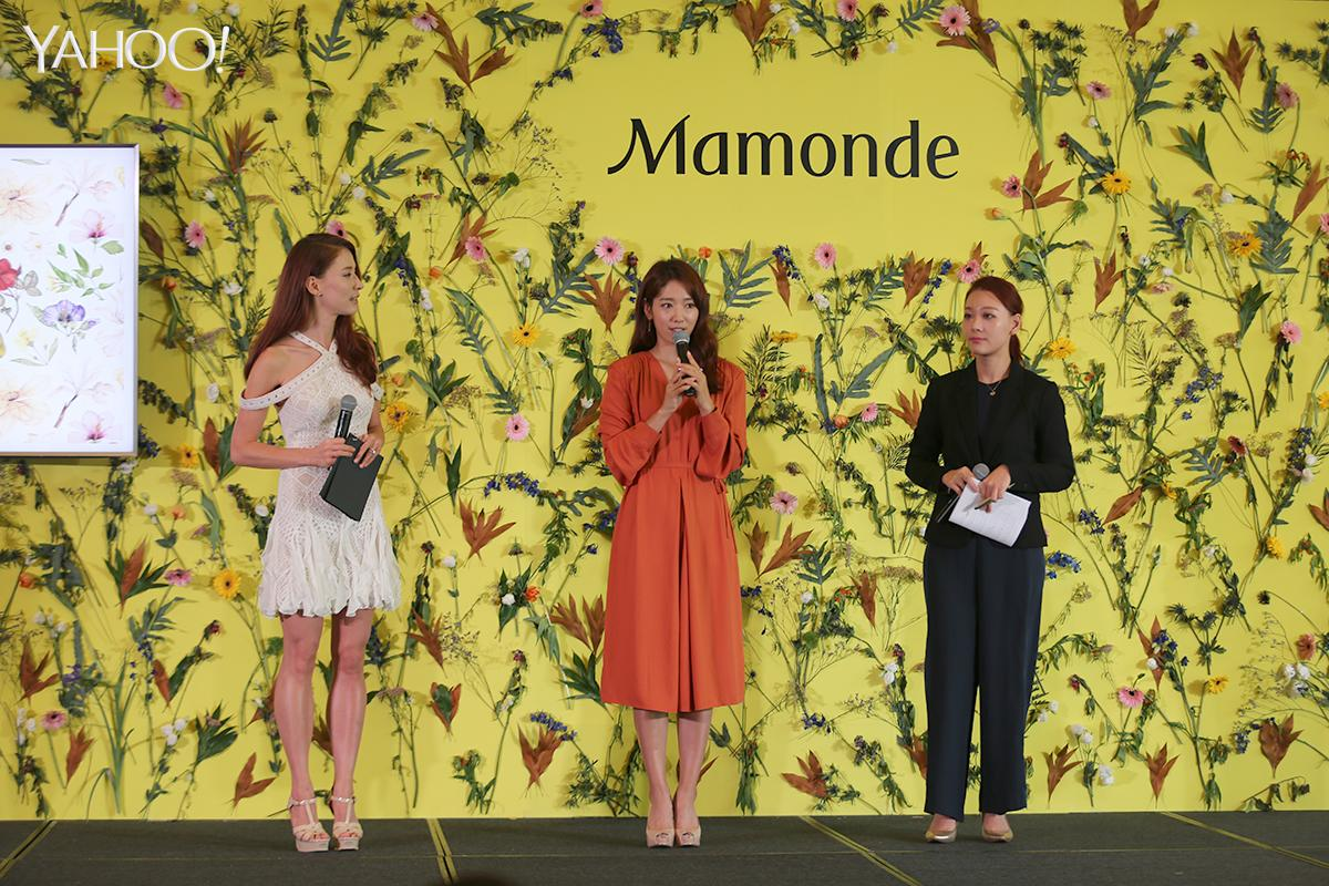 <p>Korean actress Park Shin-hye at a press conference for K-beauty brand Mamonde in Singapore (Photo: Yahoo Lifestyle Singapore) </p>