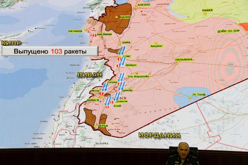 Russia syria map