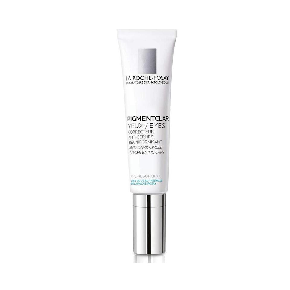 La Roche-Posay Pigmentclar Eyes was born of studies about dark undereye circles. As it turns out, the blue ones are due to a lack of microcirculation, which can result from fatigue and are worse in the morning because we sleep horizontally; brown circles can result from sun exposure, genetics, and even excessive rubbing of the eyes. If you didn't even <em>know</em> undereye circles came in two types, there's good news: This innovative LRP product was created to target both.