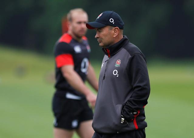 Rugby Union - England Training - Pennyhill Park, Bagshot, Britain - May 24, 2018 England head coach Eddie Jones during training Action Images via Reuters/Andrew Couldridge
