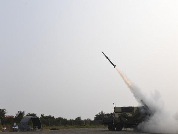 The Akash-NG (New Generation) Missile launched at an Integrated Test Range off the coast of Odisha.