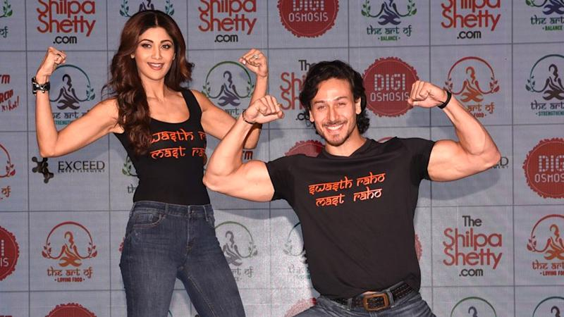 Image result for tiger shroff shilpa shetty