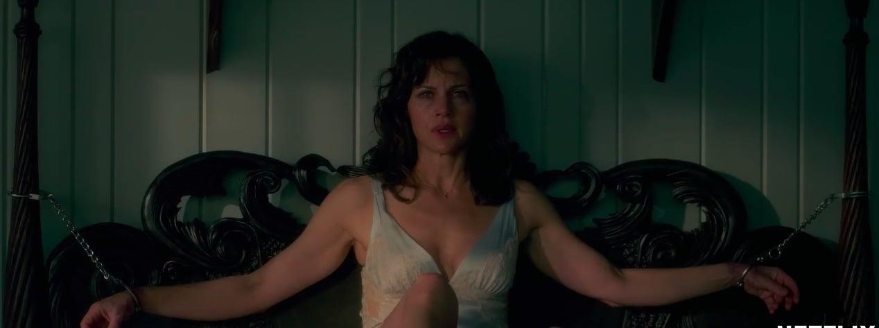 """<p>If you've got a romantic getaway to a secluded cabin in the woods scheduled with you and your boo, this film will make you think twice about whether or not that's a good idea. Based on King's book of the same name, this film depicts what happens when a woman (played by Carla Gugino of <strong>The Haunting of Hill House</strong>) accidentally kills her husband during sex role play whilst in a remote lake house.<br></p> <p><a href=""""http://www.netflix.com/title/80128722"""" target=""""_blank"""" class=""""ga-track"""" data-ga-category=""""Related"""" data-ga-label=""""http://www.netflix.com/title/80128722"""" data-ga-action=""""In-Line Links"""">Watch <strong>Gerald's Game</strong> on Netflix</a>.</p>"""