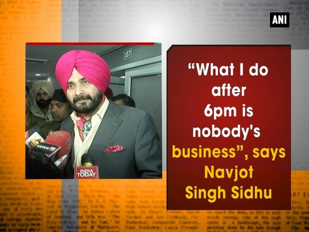 "Commenting on the Kapil Sharma show, Congress party leader Navjot Singh Sidhu has made it clear that he will not let his new job halt his television career, even though his boss, Chief Minister Amarinder Singh, has telegraphed his disapproval by asking for legal advice. Singh added, ""What I do after 6pm is nobody's business""."