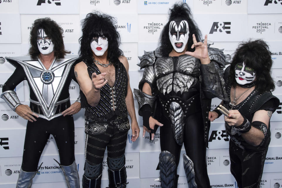 Gene Simmons, Paul Stanley, Tommy Thayer, Eric Singer - Credit: Charles Sykes/Invision/AP