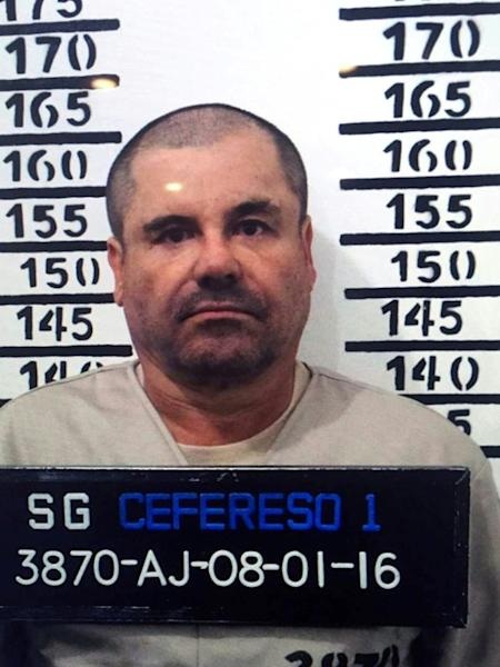 Joaquin Guzman, seen in 2016 after his re-arrest in Mexico (AFP Photo/HO)