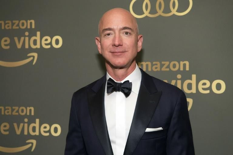 Amazon founder Jeff Bezos, who has long had ambitions in the entertainment world, is seen at Prime Video's Golden Globe Awards After Party in 2019