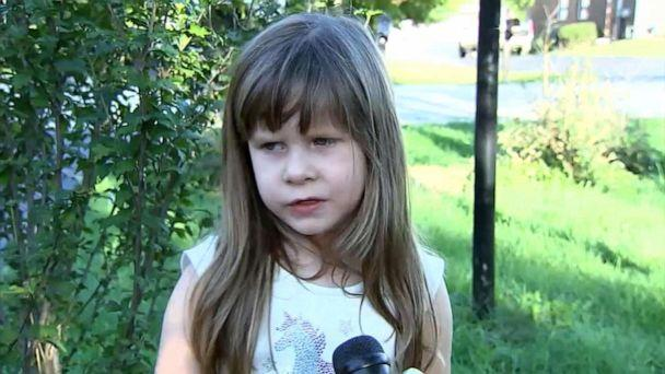 PHOTO: Christine Przybylski, 5, was playing in the front yard of her Villa Park, Ill. home when she was chased by a roaming coyote. (WLS)
