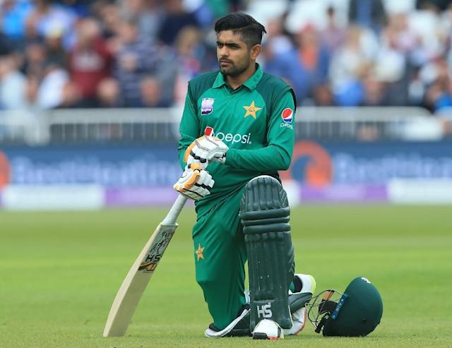 Pakistan's Babar Azam is seventh in the one-day international batting rankings (AFP Photo/Lindsey PARNABY)