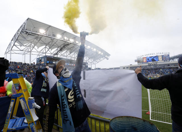 Philadelphia Union fans finally had reason to celebrate in the postseason on Sunday. (USA Today)