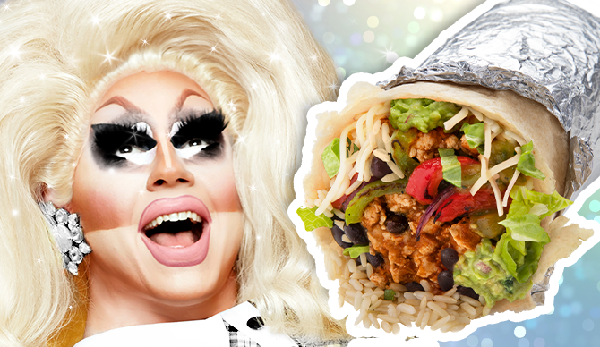 Through June 16, $1 from every Trixie Mattel Pride Burrito order will benefit the nonprofit Trans Lifeline, which offers emotional and financial support to transgender people.
