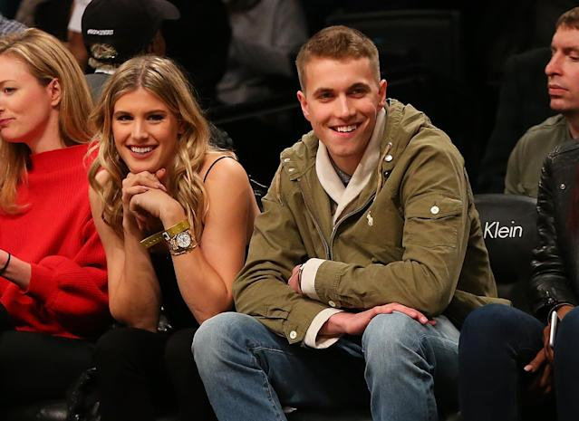 Genie Bouchard and John Goehrke on their date in February. (Getty Images)