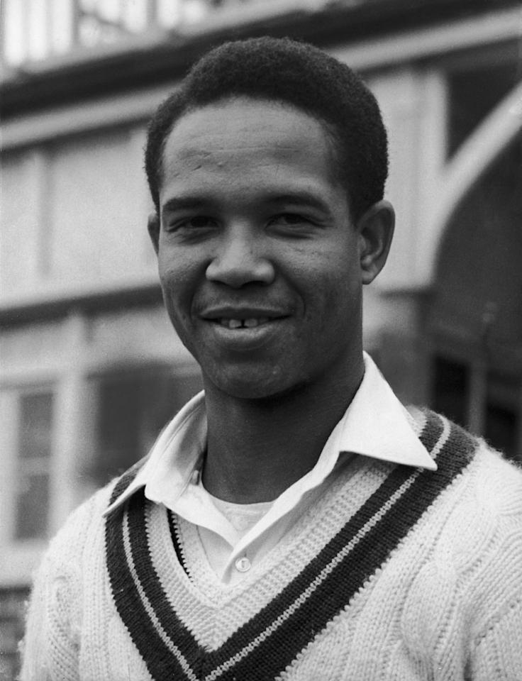 West Indies batsman and bowler Garfield Sobers before a test match at Bridgetown, 4th January 1960. (Photo by Central Press/Hulton Archive/Getty Images)