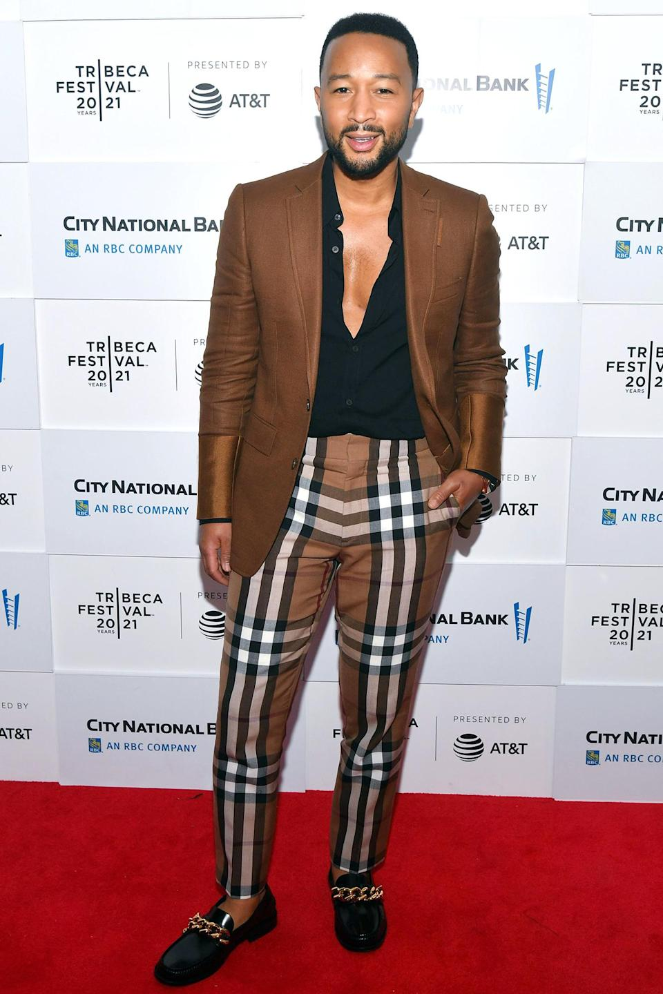 <p>John Legend attends the premiere of<i> Legends of the Underground</i>, which he co-executive produced, at the Tribeca Film Festival on June 10 in N.Y.C. </p>