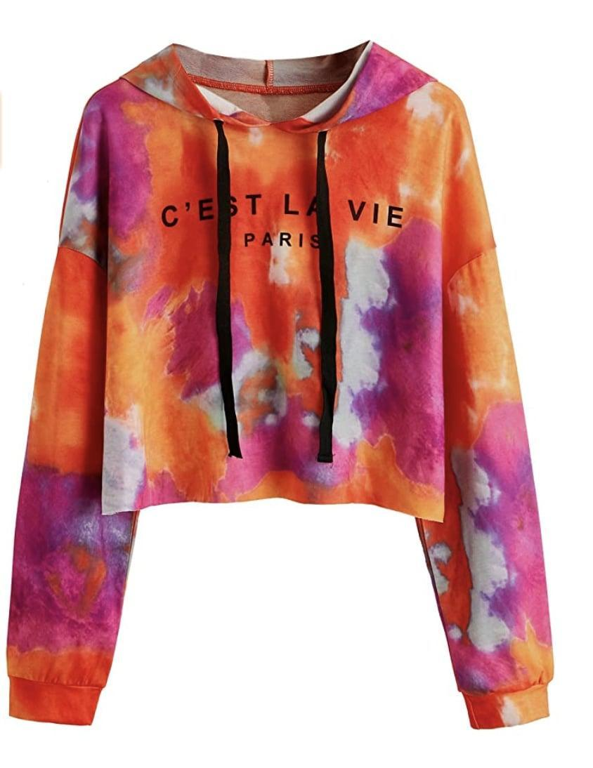 <p>This eye-catching <span>Tie Dye Long Sleeve Workout Crop Top</span> ($20 - $22) is the most fun.</p>