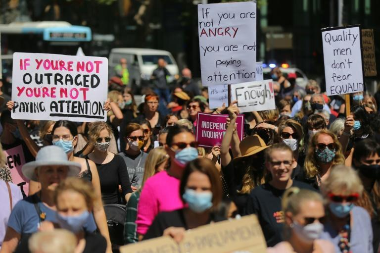 """Tens of thousands of women this month joined """"#March4Justice"""" rallies to protest sexual violence and gender inequality, calling for systemic change in politics and wider Australian society"""
