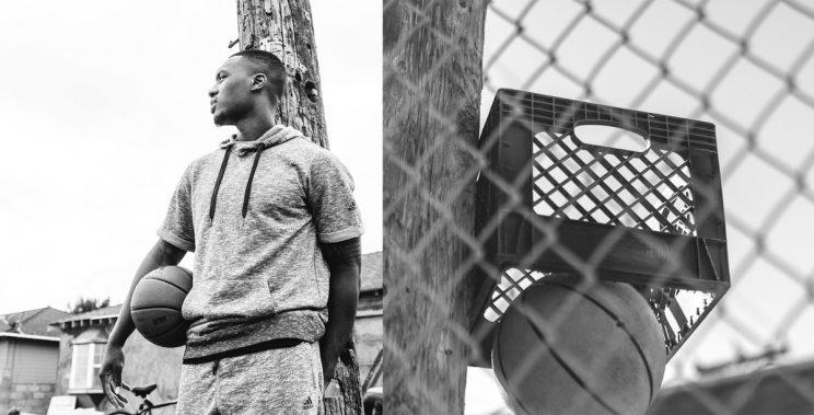 new product 1933d cb02c Damian Lillard and his first basket. (Courtesy of adidas)