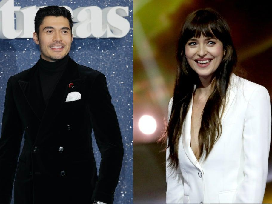 Henry Golding and Dakota Johnson will both star in an adaptation of Jane Austen's 'Persuasion' (Left: John Phillips/Getty Images – Right: Tristan Fewings/Getty Images for Global Citizen)