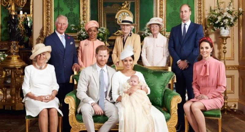 """Prince William looks """"sour"""" and """"not amused"""" in baby Archie's christening photos [Image: Chris Allerton/ Sussex Royal]"""