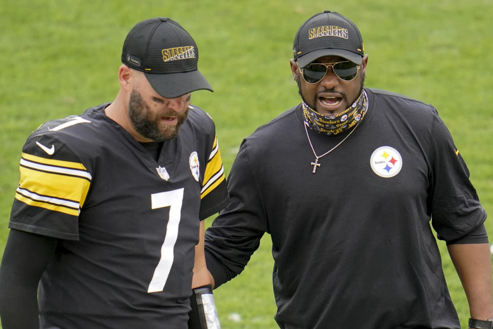 Ben Roethlisberger and Mike Tomlin.