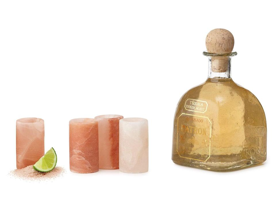 <p>Spice up your next party with these tangy <span>Himalayan Salt Tequila Glasses</span> ($28 for set of four).</p>
