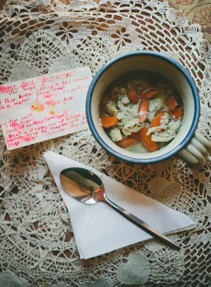 """<p>""""This soup is all I want when I'm under the weather! It's like the fluffy down comforter of foods!"""" -Molly of <a href=""""http://mynameisyeh.com/mynameisyeh/2013/6/dumpling-a-day-chicken-and-dumpling-soup"""">My Name Is Yeh</a></p>"""