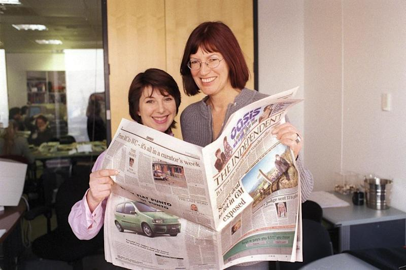 Janet Street Porter with her PA Ginny Allport