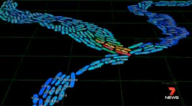 The data can be mapped, visualised and studied with unlimited possibility. Source: 7News