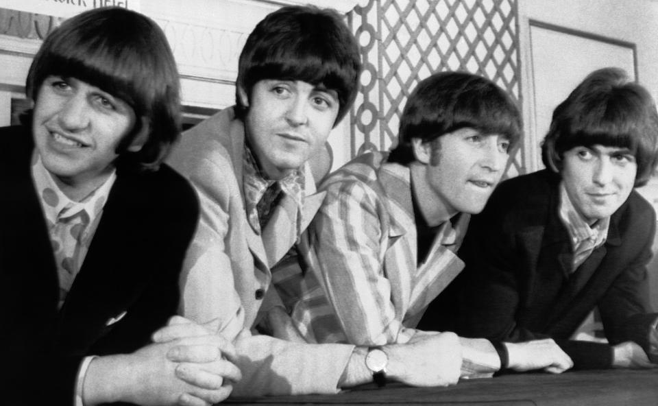 The Beatles attend a press conference in New York (AP photo, Archive)
